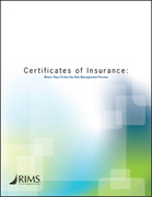 Certificates of Insurance: Where They Fit Into the Risk Management Process